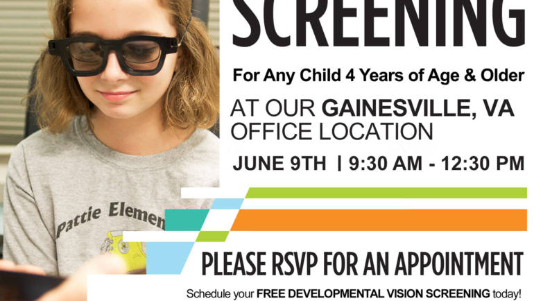 FREE VISION SCREENING IN GAINESVILLE, VA – VIRGINIA VISION THERAPY CENTER