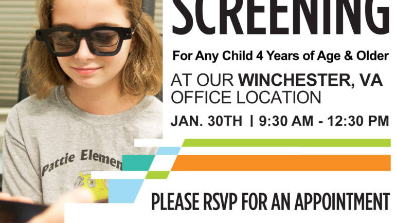 Free Vision Screening at our Winchester, VA office location